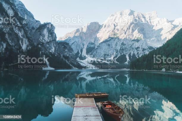 Photo of Scenic view of Lago di Braies  in Dolomites