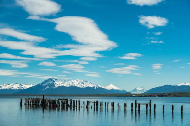 Panoramablick auf den See bei Puerto Natales – Foto