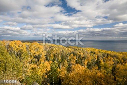 Scenic view of Lake Superior