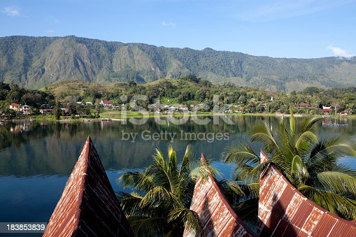 samosir island in lake toba indonesia
