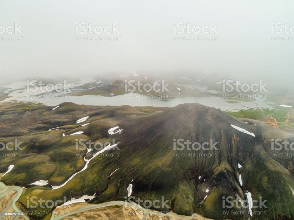Scenic view of wilderness area at Fjallabak Nature Reserve in...