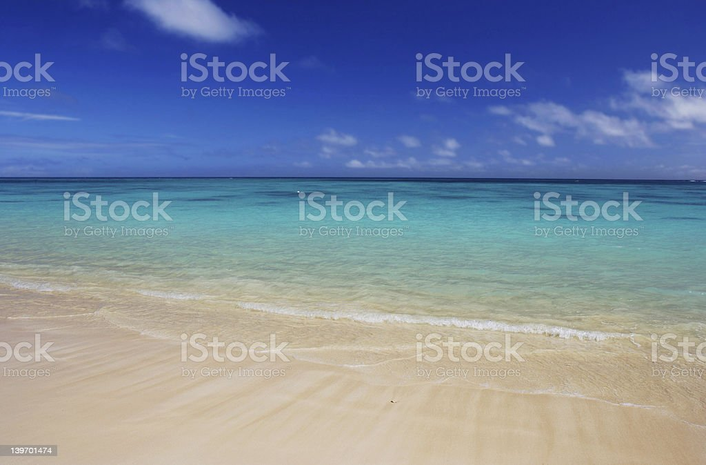 Scenic view of Lanikei Beach, Hawaii royalty-free stock photo
