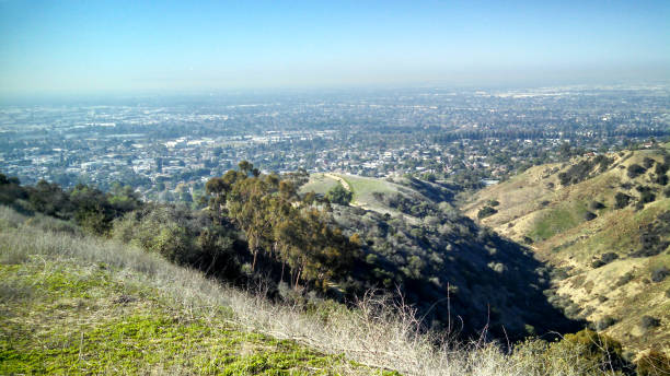A Scenic View of Los Angeles County stock photo