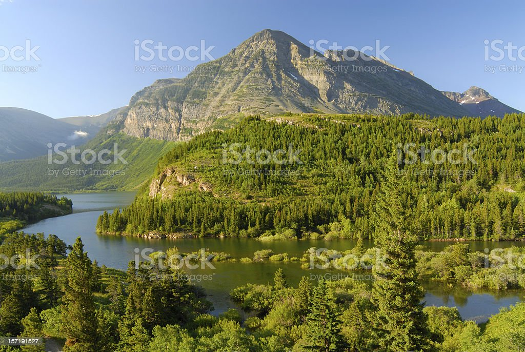 Scenic View of Many Glaciers royalty-free stock photo