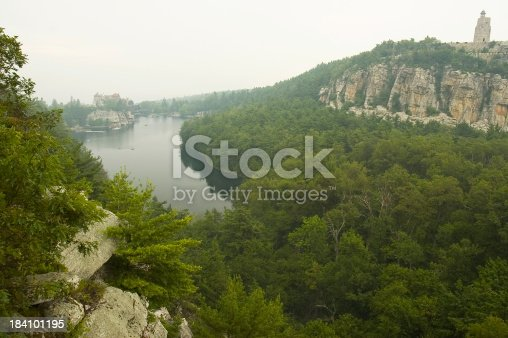 scenic view of mohonk mountain house and surrounding shawangunk mountains