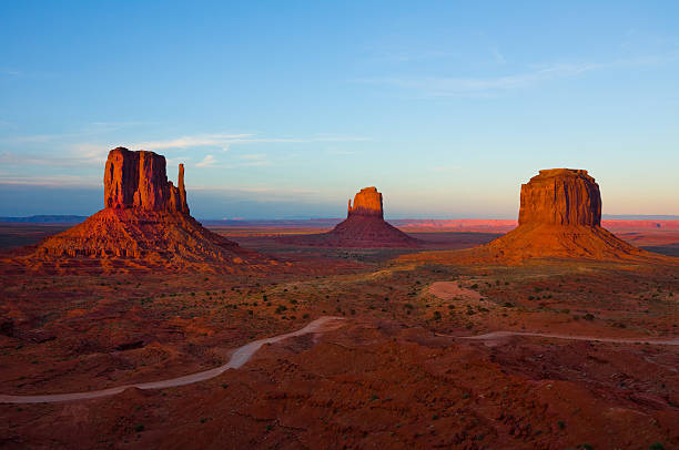 A scenic view of monument valley stock photo