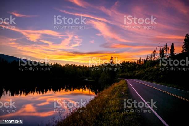 Photo of Scenic view of mountain road near rainforest in the morning