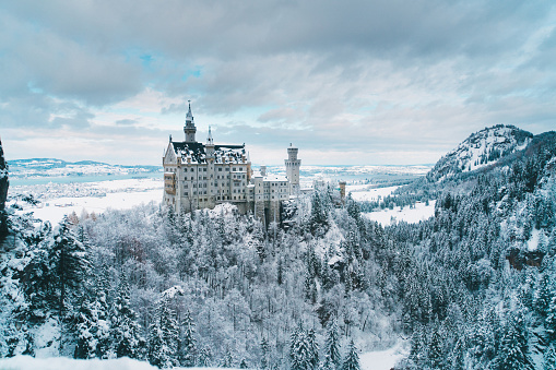 Scenic view of  Neuschwanstein castle in Germany