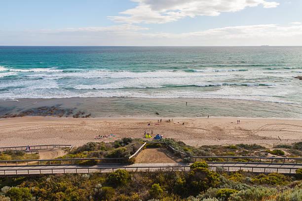 Panoramablick der Portsea am Strand von den Klippen, Australien – Foto