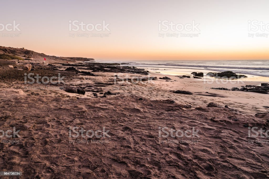 Scenic view of sea against sky during sunset royalty-free stock photo