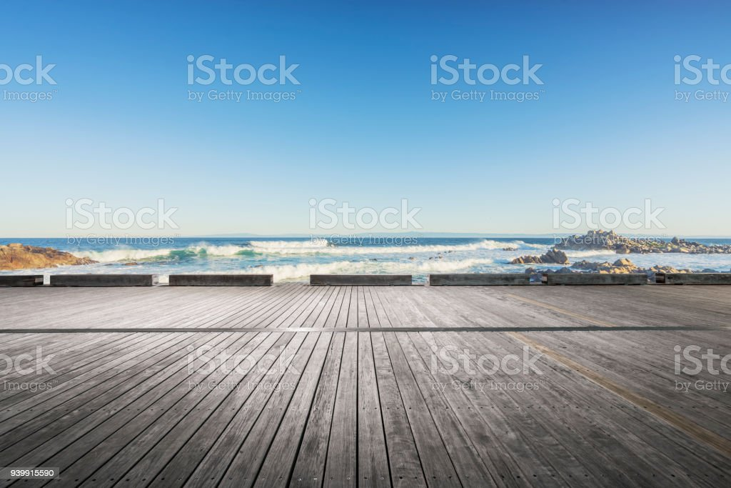 scenic view of seascape against sky stock photo