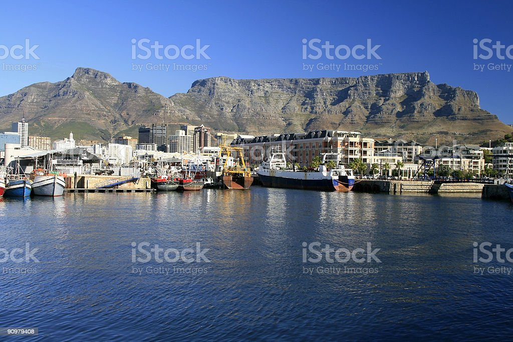 Scenic view of Table Mointain in Cape Town, South Africa royalty-free stock photo