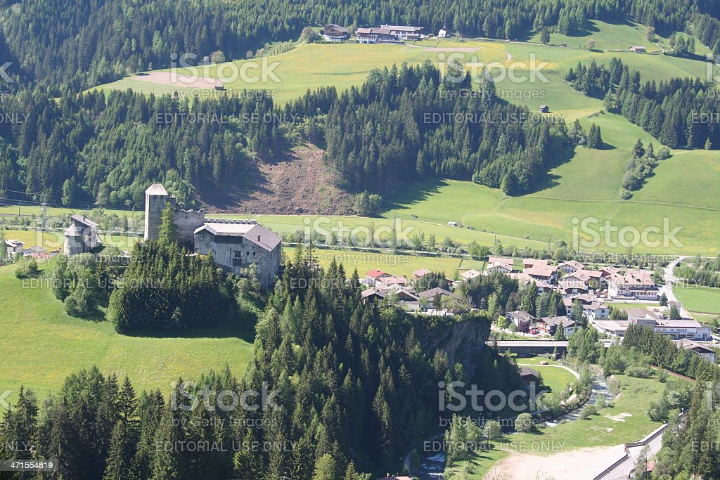 Scenic View of the area Heinfels, Austria during summer season. stock photo