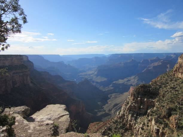 Scenic view of the Grand Canyon stock photo