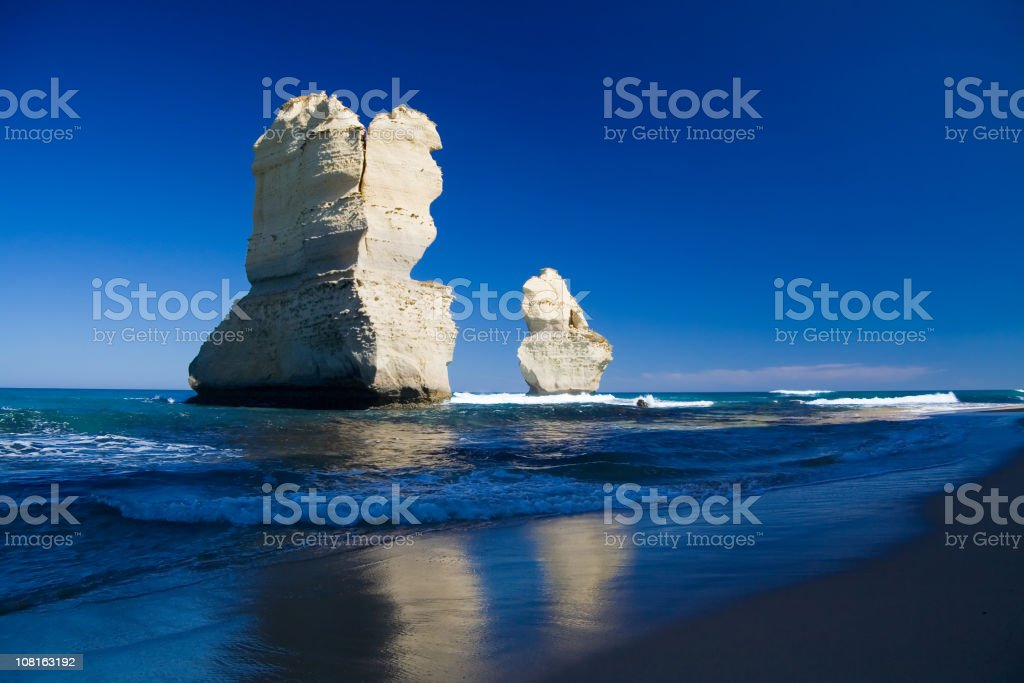 Scenic view of The Great Ocean Road in Victoria, Australia  stock photo