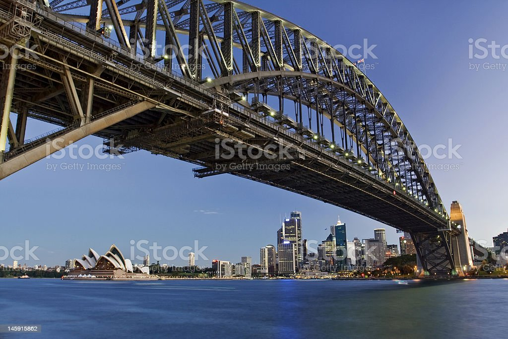 Scenic view of the Harbour Bridge royalty-free stock photo