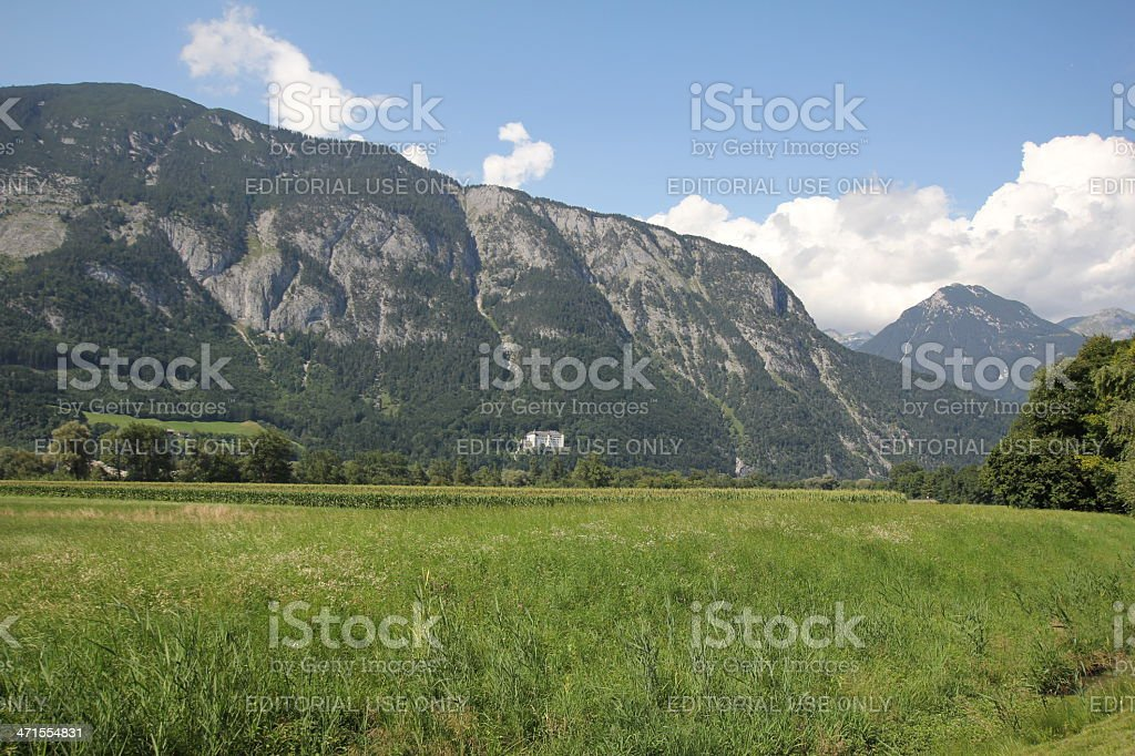 Scenic View of the Inntal, Tyrol during summer season. royalty-free stock photo