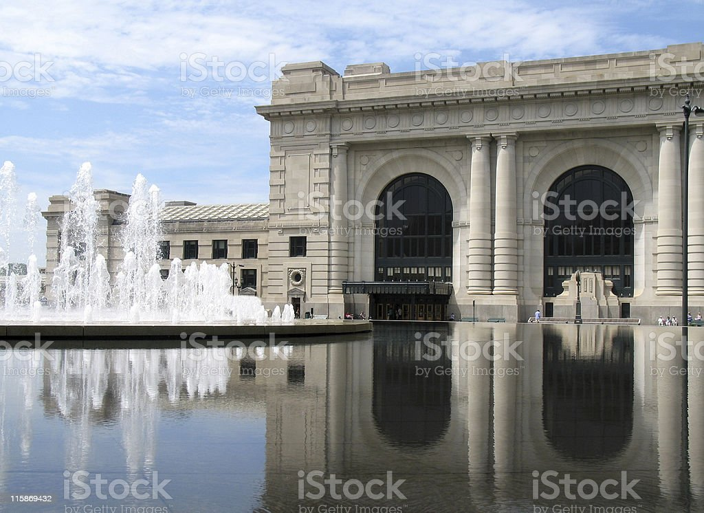 A scenic view of the Kansas City Union Station royalty-free stock photo