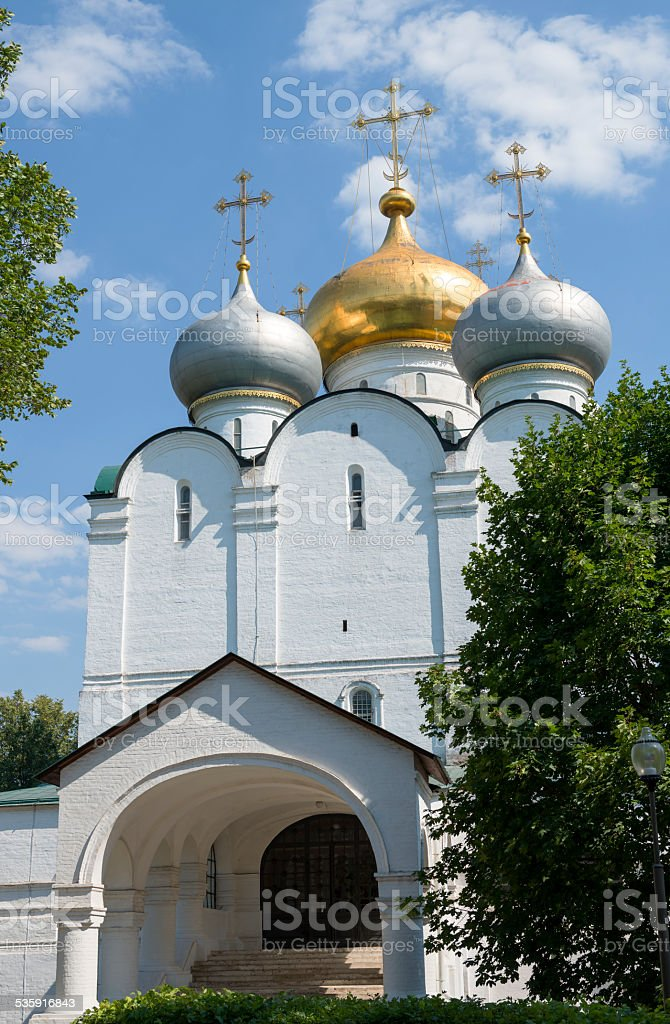 scenic view of the Moscow Novodevichy Convent stock photo