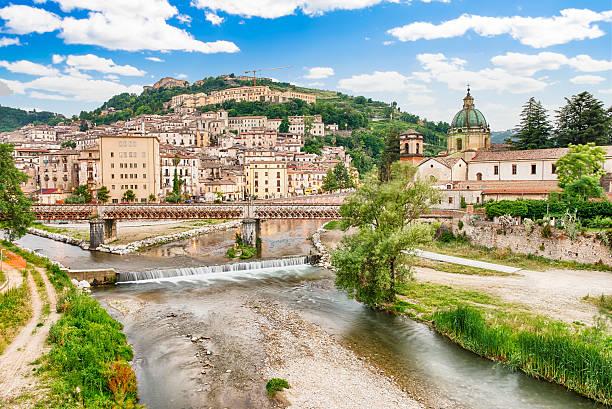 Splendida vista del centro storico di Cosenza, Italia - foto stock