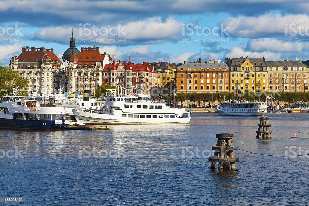 Scenic view of the Old Town in Stockholm, Sweden stock photo