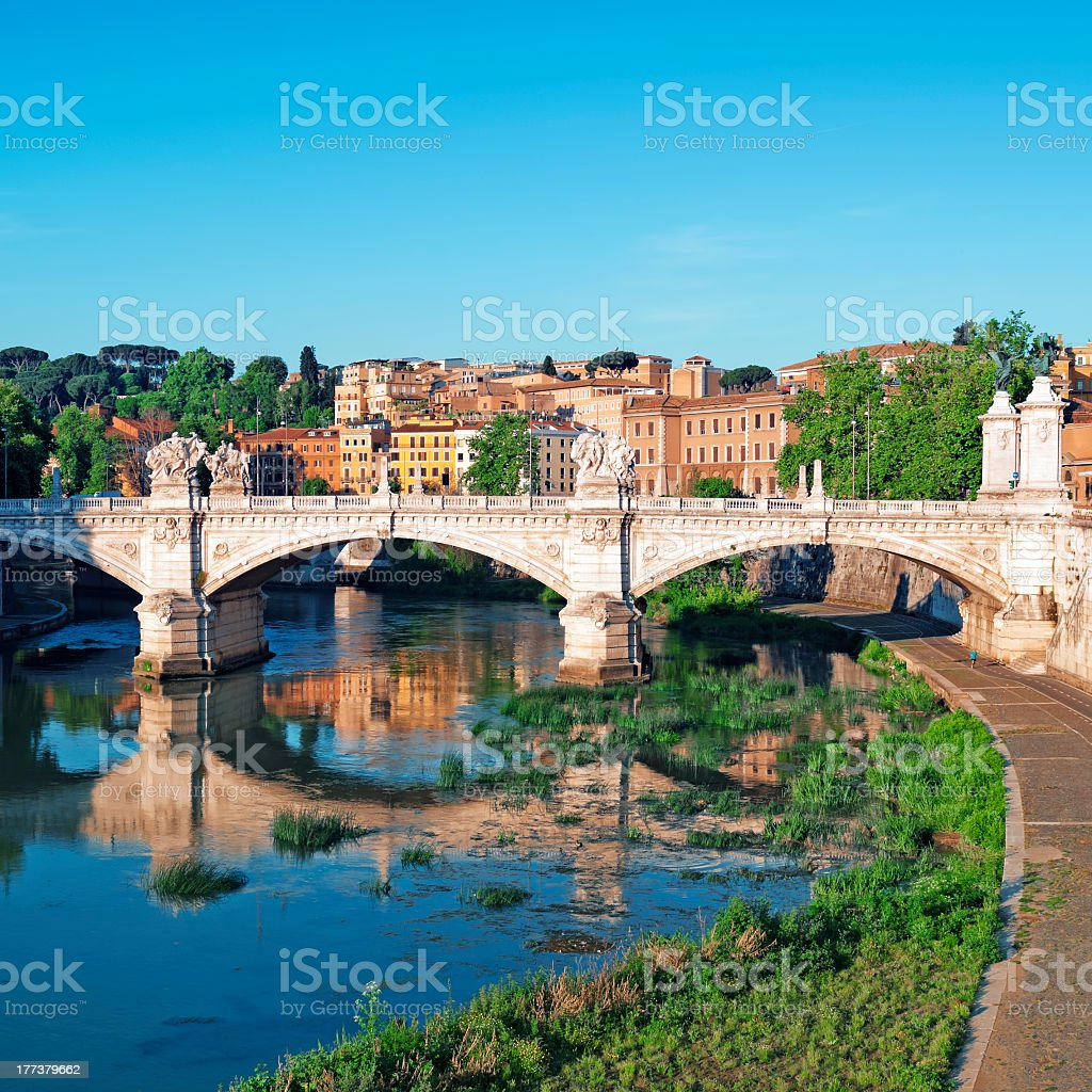 Scenic view of the Rome skyline stock photo