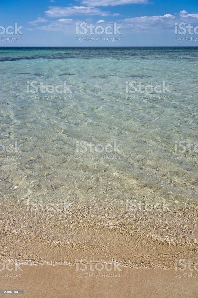 Scenic view of the sea stock photo