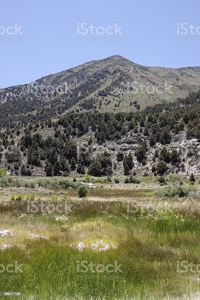 Scenic view of the Sierra Nevadas royalty-free stock photo