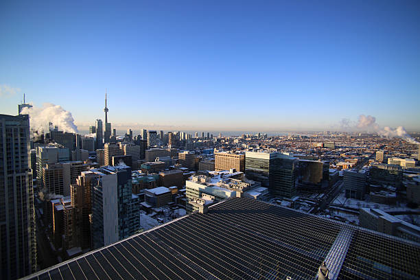 Scenic view of Toronto looking toward mississauga stock photo