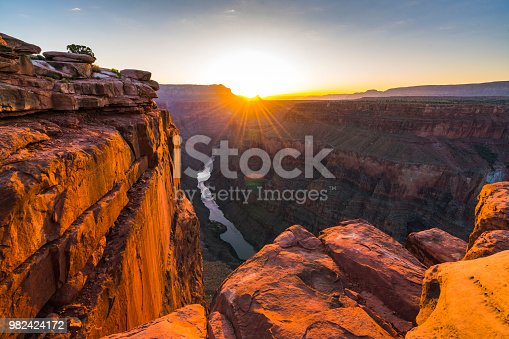 scenic view of Toroweap overlook at sunrise  in north rim, grand canyon national park,Arizona,usa.