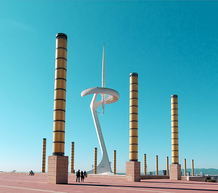 Scenic view of Torres Calatrava and Communications Tower