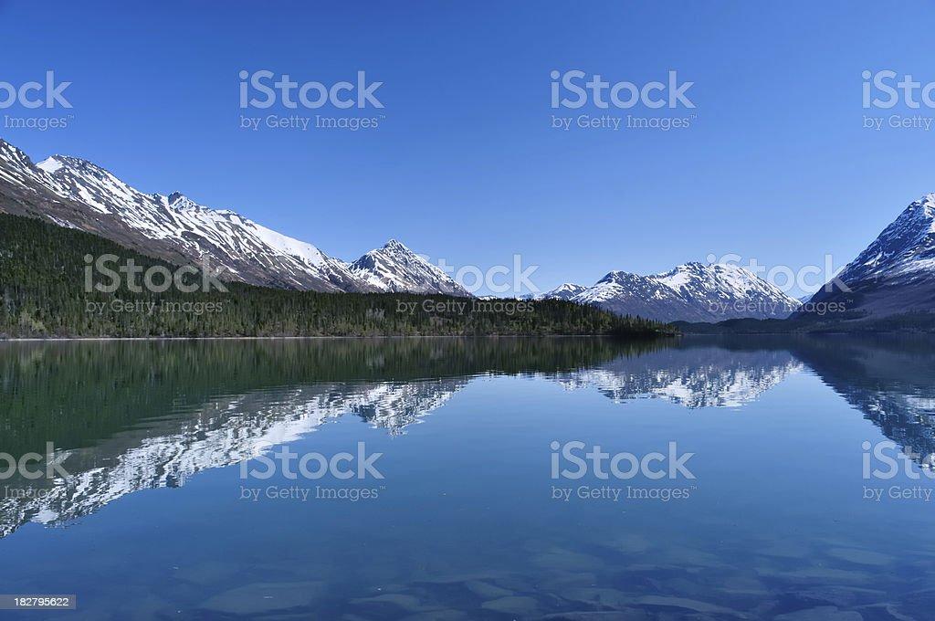 Scenic view of Turnagain Arm waterway in Alaska stock photo
