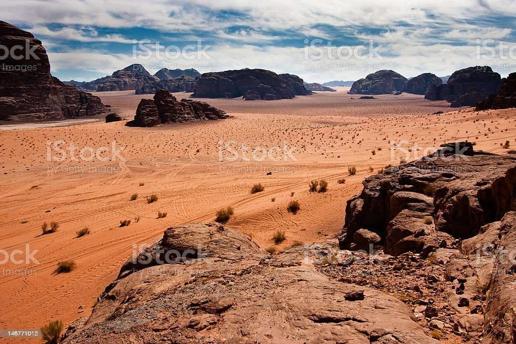 Scenic view of Wadi Rum desert, Jordan. royalty-free stock photo