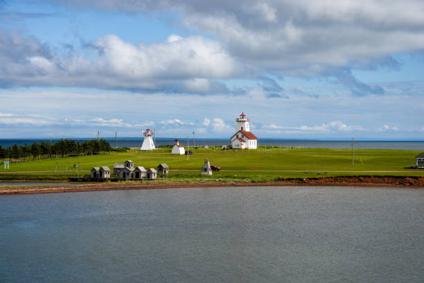 scenic view of wood islands, prince edward island - prince edward island stock photos and pictures