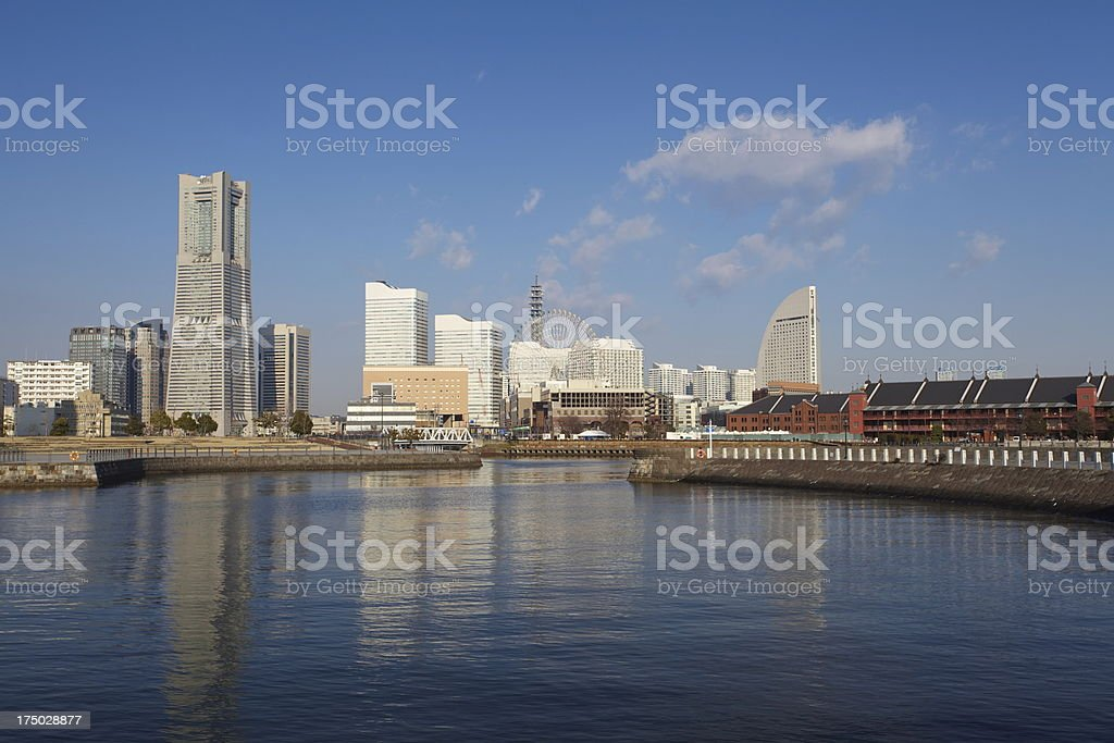Scenic view of Yokohama Japan royalty-free stock photo