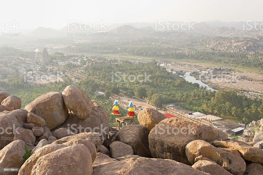 Scenic view on ancient city Hampi royalty-free stock photo