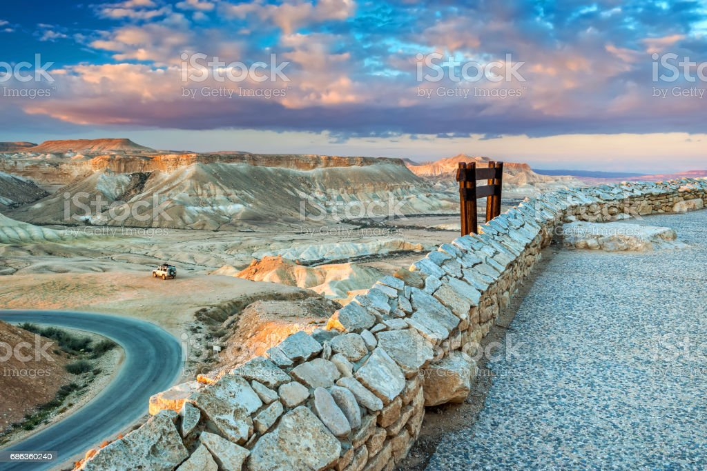 Scenic view on Ein Avdat National Park, Israel stock photo