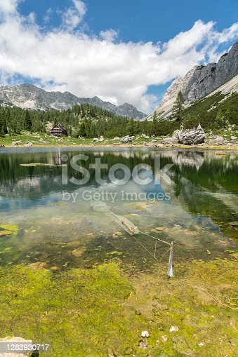 Seven lakes valley in Triglav National Park. Green color gets from algae in it. Rangers try to clean the lakes.