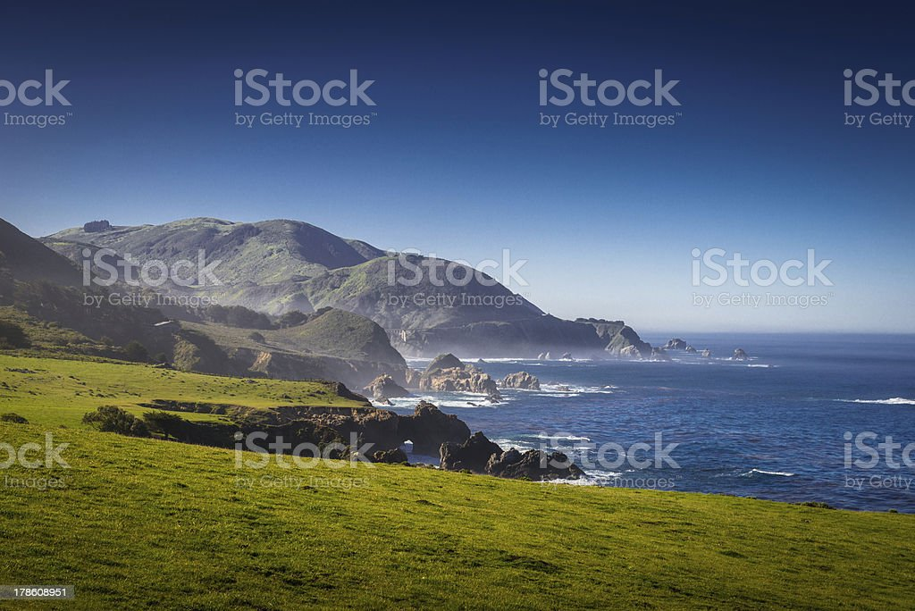 Scenic View on Pacific Highway one royalty-free stock photo