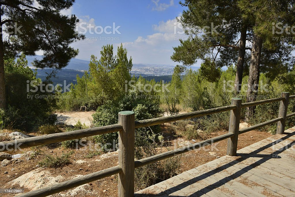 Scenic view on the hills of Jerusalem royalty-free stock photo