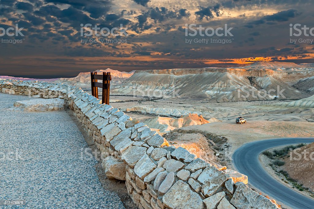 Scenic view on valley of Ein Avdat National park stock photo