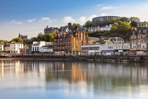 Scenic View over Oban in Scotland stock photo
