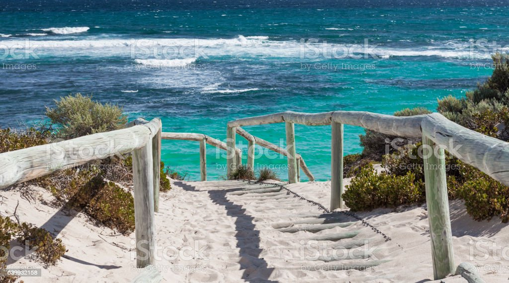 Scenic view over one of the beaches of Rottnest island stock photo