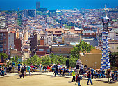 istock Scenic view to Barcelona and Park Guell 637805022