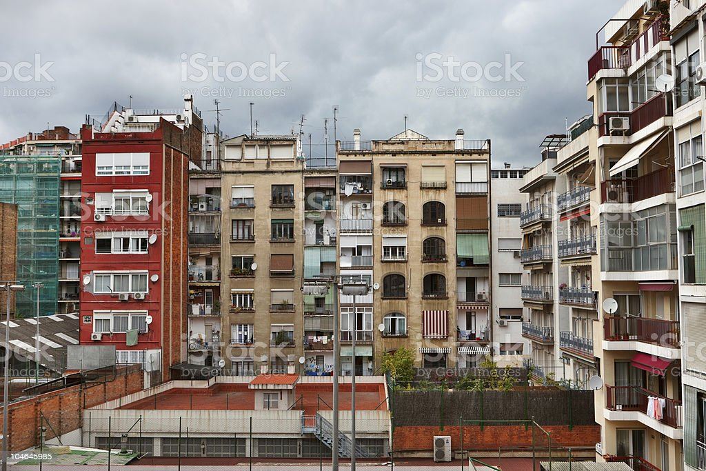 Scenic view to the houses royalty-free stock photo