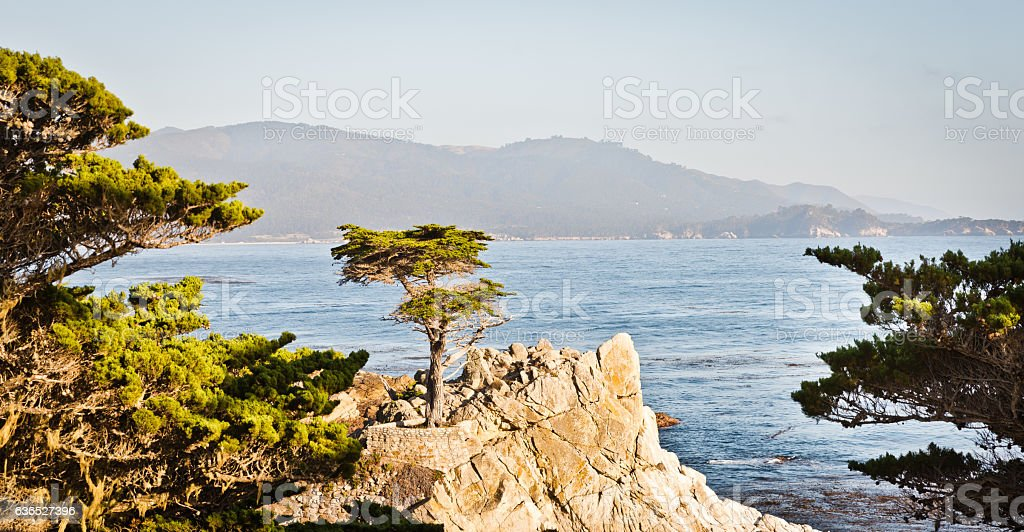 Scenic Views of California coastline stock photo