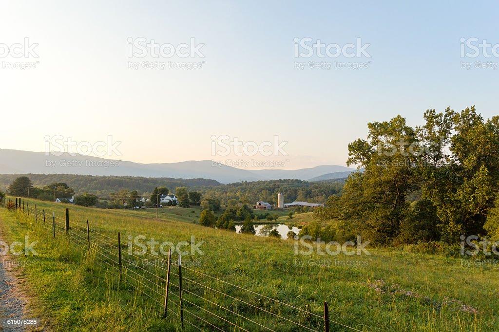 Scenic Village in Shenandoah Valley stock photo