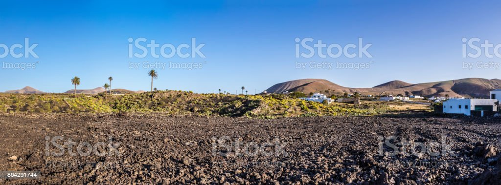scenic village Mancha Blanca near Timanfaya national park, Lanzarote royalty-free stock photo