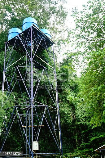 Water Tower - Storage Tank, Environmental Conservation, Flowerbed, Green Color, Water
