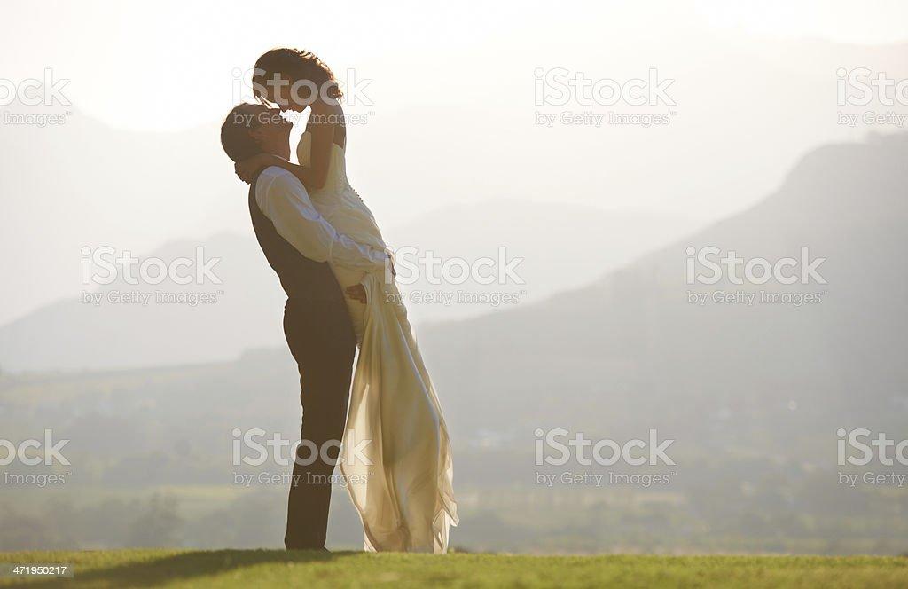 Scenic wedding stock photo
